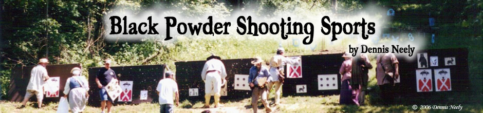 Posting targets at a black powder shooting match